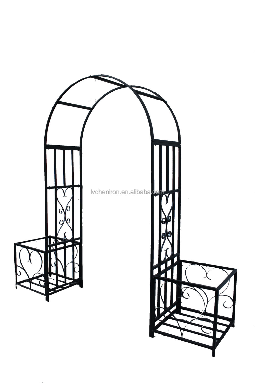 Metal Garden Arch With GateSquare Steel TubePowder Coated Buy