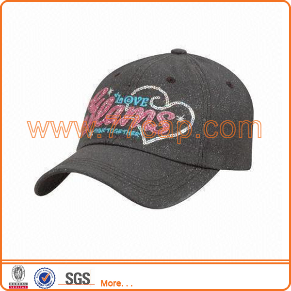 Sequin sport cap for running jogging cycling tennis