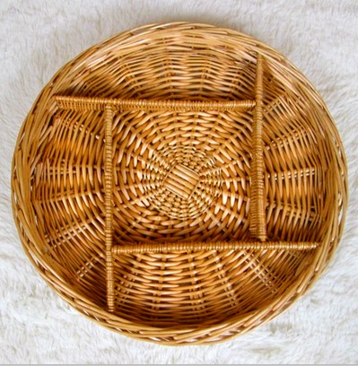 Christmas decoration Natural Wicker/gift baskets empty round shape for peanut