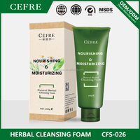 natural herbal moisturizing face foaming cleanser OEM factory