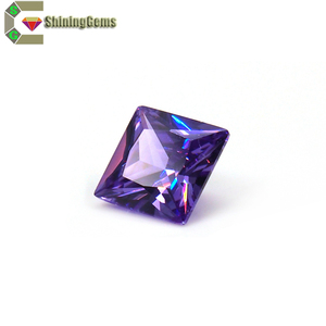 Fashion Jewelry accessory cubic zirconia jaipur machine cut jacinth shining stones