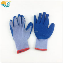 2017 New Style latex coated protective Work Glove natural rubber palm cotton safety gloves