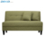home Contemporary linen fabric wood Loveseat Sofa kd back for living room