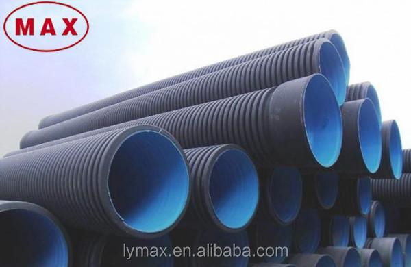 Mejor precio hdpe de doble pared corrugado tubo de drenaje - Precio tubo corrugado ...