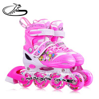China TOP 1 in online sale children model cheap price inline roller skates with 8 light-wheels