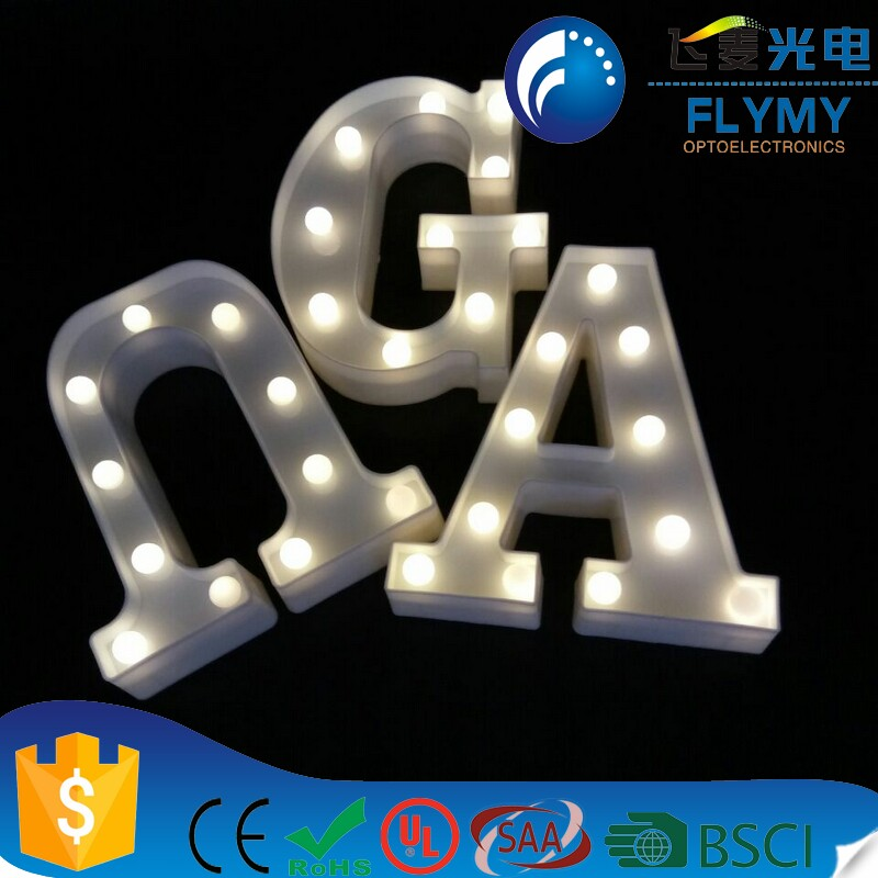 LED Marquee Letter Light Standing Alphabet Up Signs Circus Plaques Hanging 22*18*4.5cm