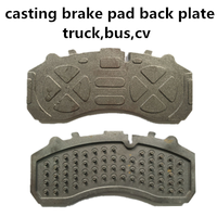 auto spare parts brake shoe back plate for Mercedes truck