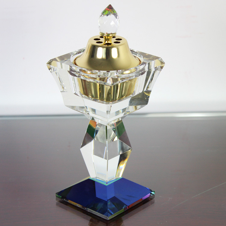 incense wholesale crystal glass brass oil burner