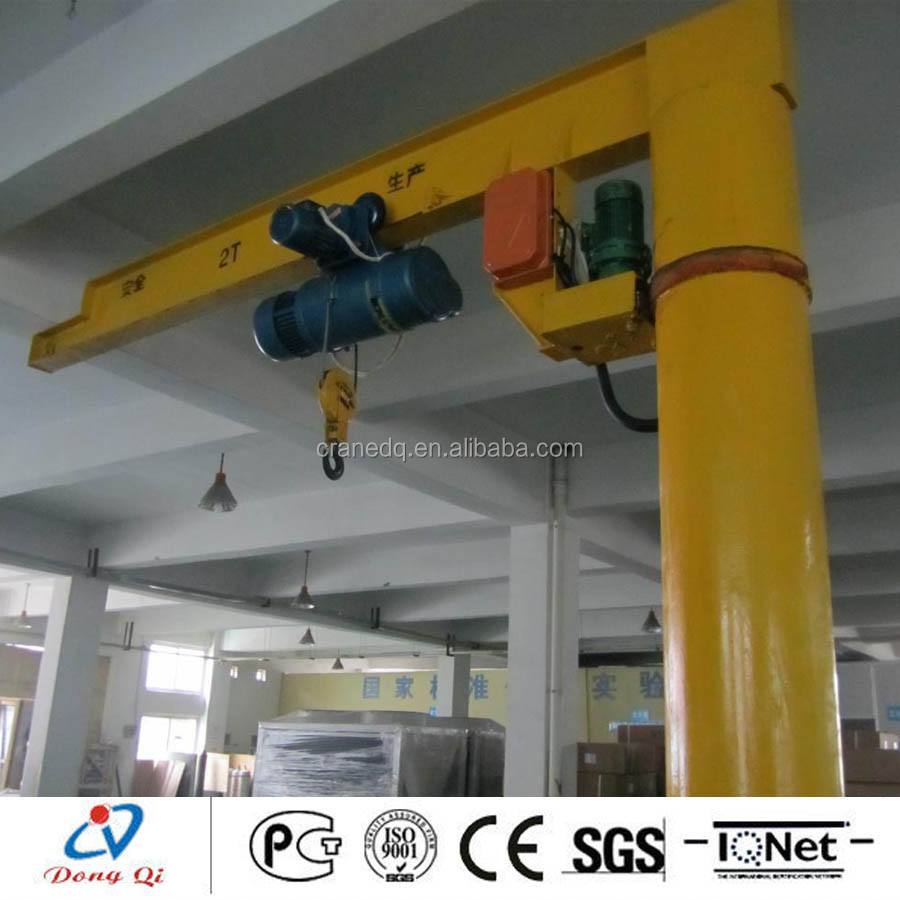 Electric jib small lifting cranes 500kg with embedded parts