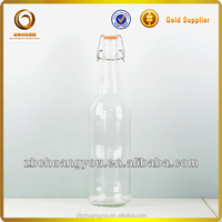 1L swing-top/flip top beer bottle for carbonated beverages