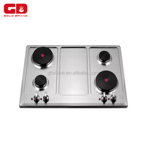 Hot sell stainless steel panel cooktop/ 4 burner electric hotplate for home appliance