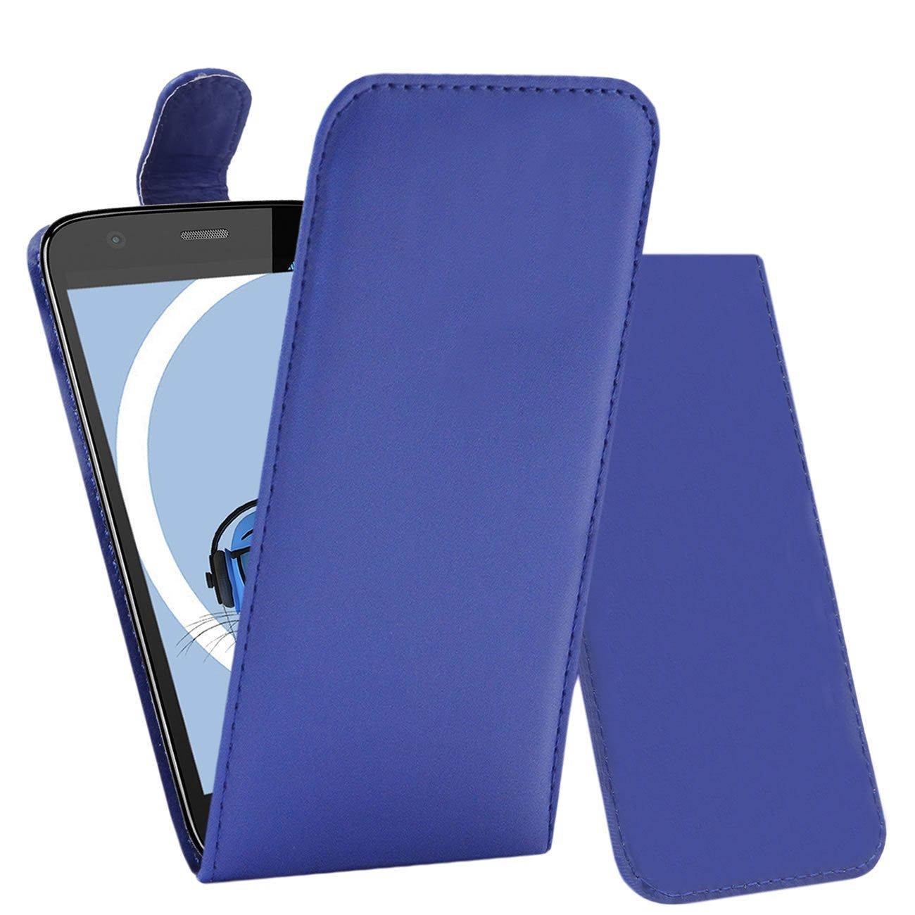 iTALKonline Motorola Moto G (2014) Moto G2 2nd Generation Blue PU Leather Executive Multi-Function Vertical Flip Wallet Case Cover Organiser