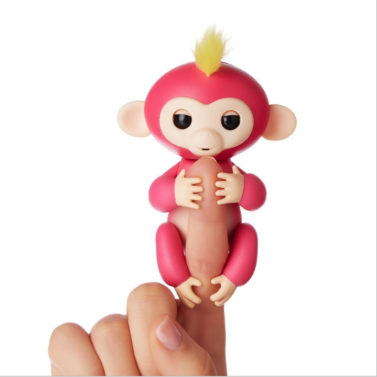 2017 new 6 Colors Electronic Finger Pet Baby Toy Interactive Finger Monkey Toys in Stock
