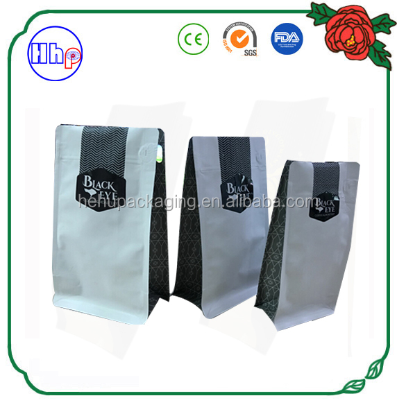 custom printing resealable stand up bag coffee aluminum with valve