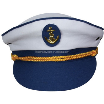 5a8e7856adb66 Adult Yacht Boat Captain Hat Unisex Costume Party Navy Cap Marine Sailor  Fancy NH2377