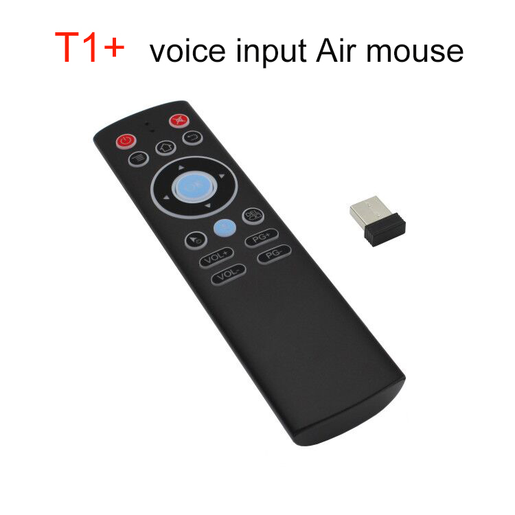 T1+ 17 keys 2.4G RF smart tv box google voice assistant mouse mini remote control rohs Certified