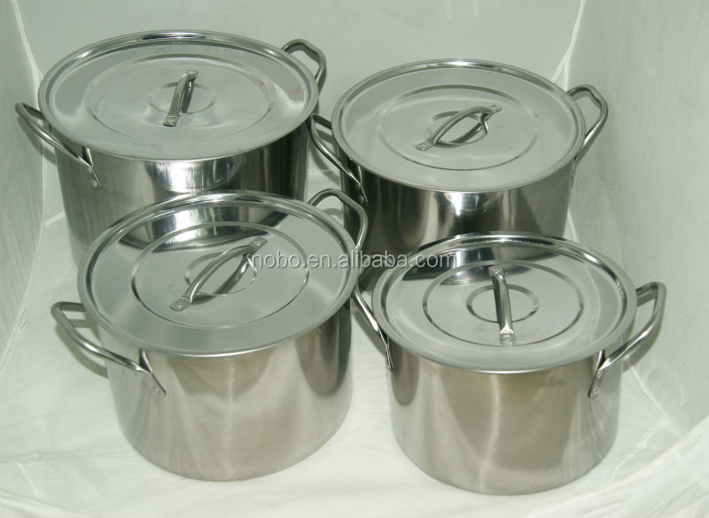 8 Pcs 555 Stainless Steel Stock Pot