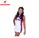 Custom all star cheerleading uniforms girls sexy top sublimation cheer uniform for kids hot cheerleader dance uniform red youth