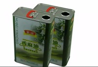 1.8L seasame oil can square metal tin with plastic lids and handle