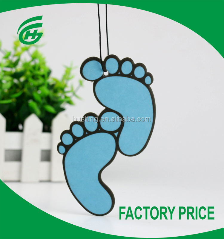 Hot Selling Foot Shape Car Paper Air Freshener With Hanging