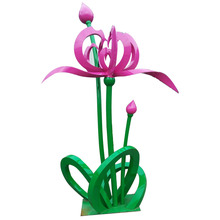 Arabia Feature painted lotus garden sculpture for sale
