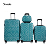 Fashion Blue Color Four Wheel Iron Black ABS luggage PC Carry On Trolley Bag