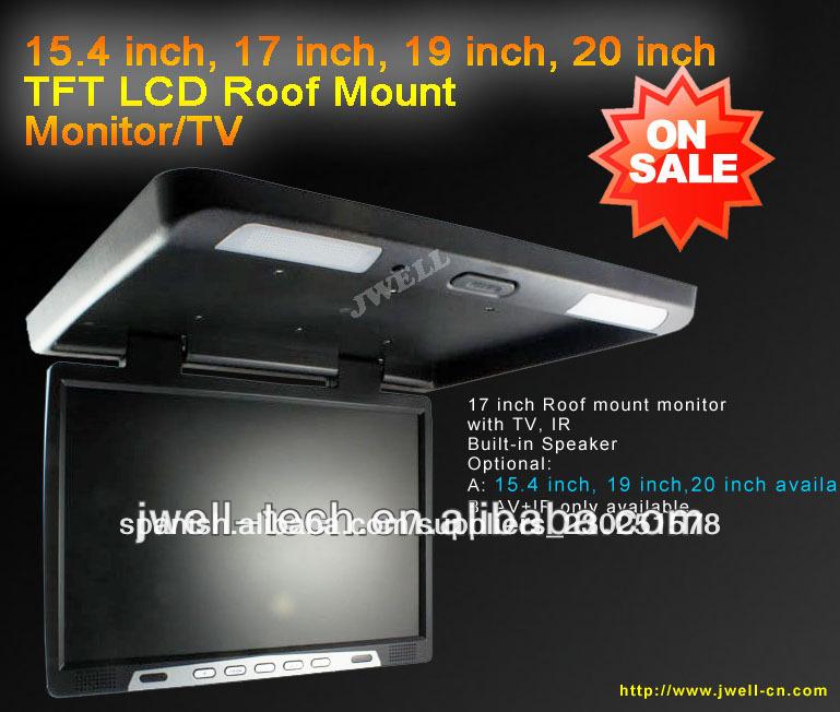 coche tv de montaje en techo del coche tft lcd monitor flip down ...