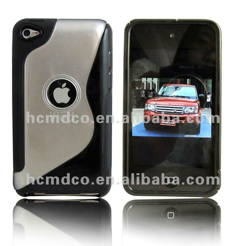 manufactory S shape cell phone case for apple ipod touch4