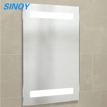 Clear Silver Bathroom Mirror Glass With Polished Edges Buy Silver