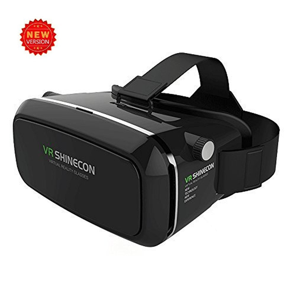 3D VR Glasses, Findway 3D VR Headset Virtual Reality Glasses with Adjustable Lens and Strap Compatible with 3.5-6.0 inch Android & Apple Smartphones for 3D Movies and Games