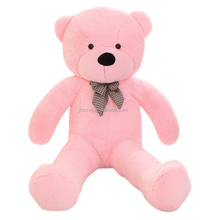 free sample popular stuffed 130cm bear in europe pink color big size bear toys factory stuffed pink plush teddy bear