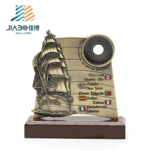 customized replica grammy 3d Sailboat shape award Italy logos award trophy