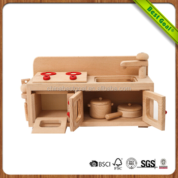 New Design For Kids Gift Pretend Play Wooden Kitchen Sets Toy