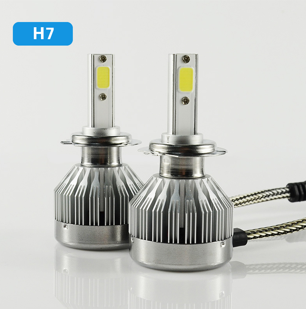No MOQ C1 auto lamp COB chip 60W 6000LM 6000k HB4 9006 led headlight