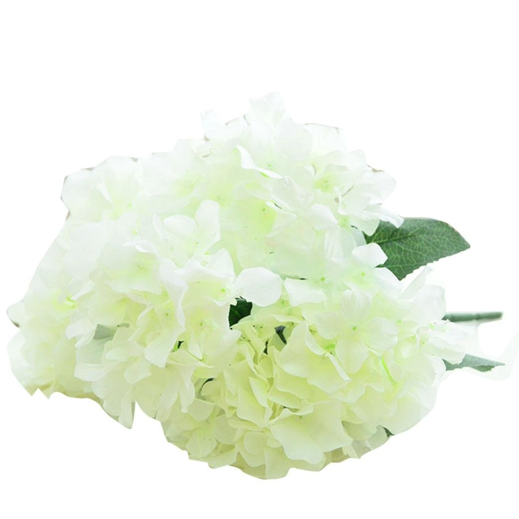 Cheap artificial white hydrangea flowers find artificial white get quotations amatm 1bouquet 6 heads artificial hydrangea silk flowers leaf bridal wedding party home izmirmasajfo