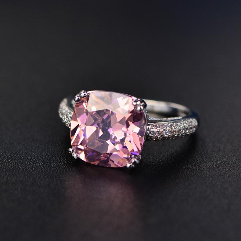 4a9a7e5849 Venta al por mayor nueva llegada gran cuadrado corte piedra cz anillos de  boda joyería