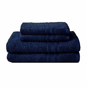 Charisma 4pk Luxury Towels Set: 2 Hand Towels & 2 Wash Cloths (Blue)
