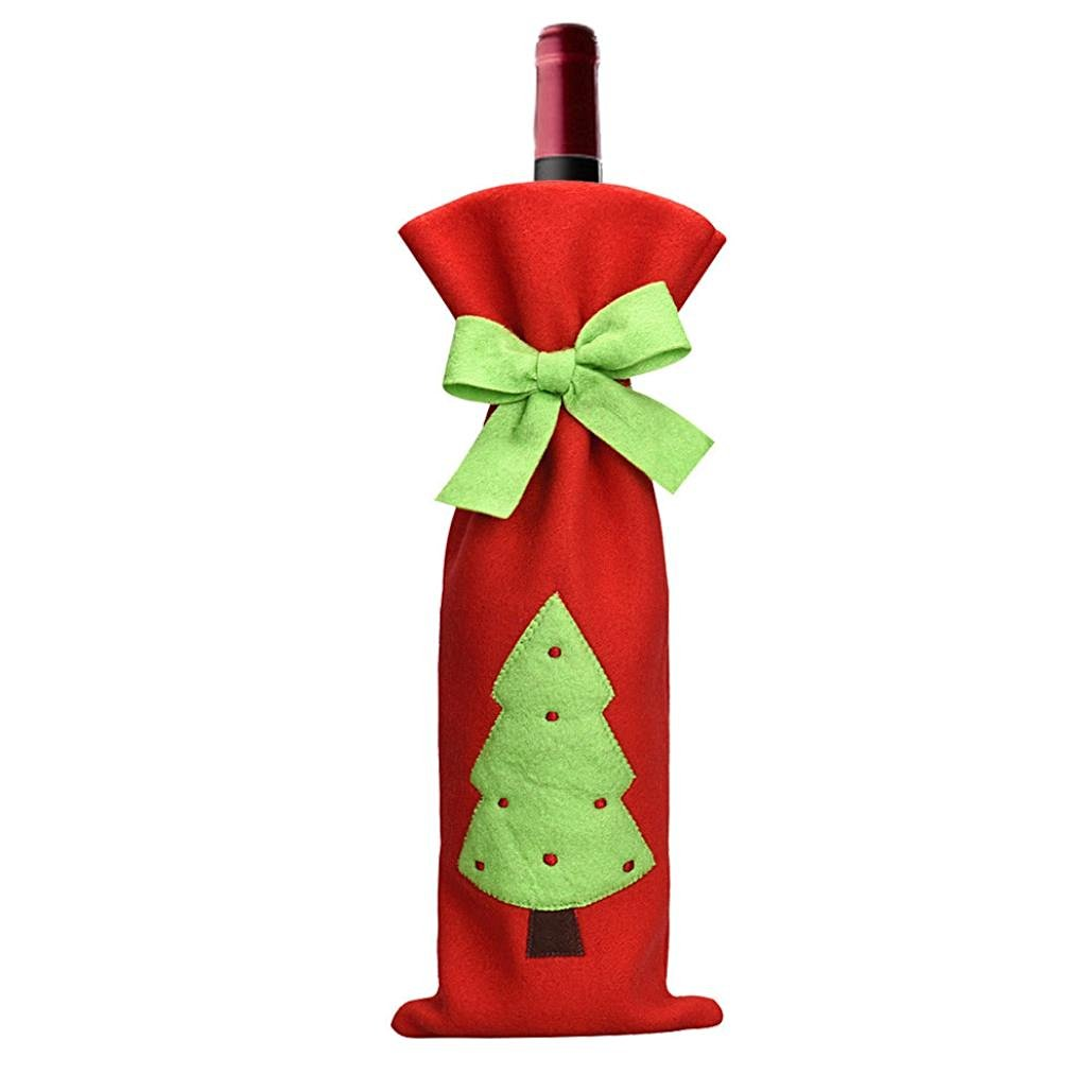 Bestpriceam Christmas Trees Red Wine Bottle Cover Bags Decoration Home Party Santa Claus Christmas