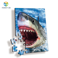 Zebulun Most Popular Funny Games 3D Lenticular Printable Plastic Adult Jigsaw Puzzles
