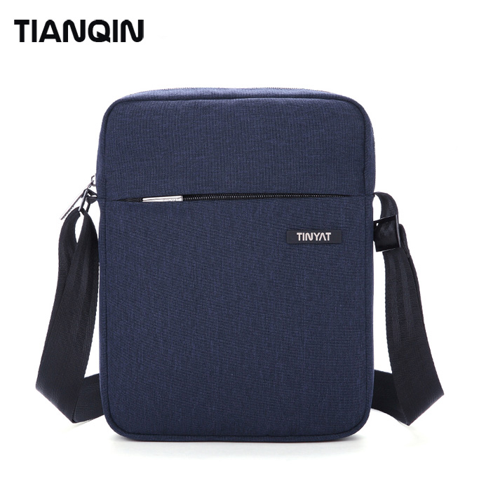 Fashion Black Small Men Bag Polyester Messenger Bags Casual Shoulder Long Strip Bag