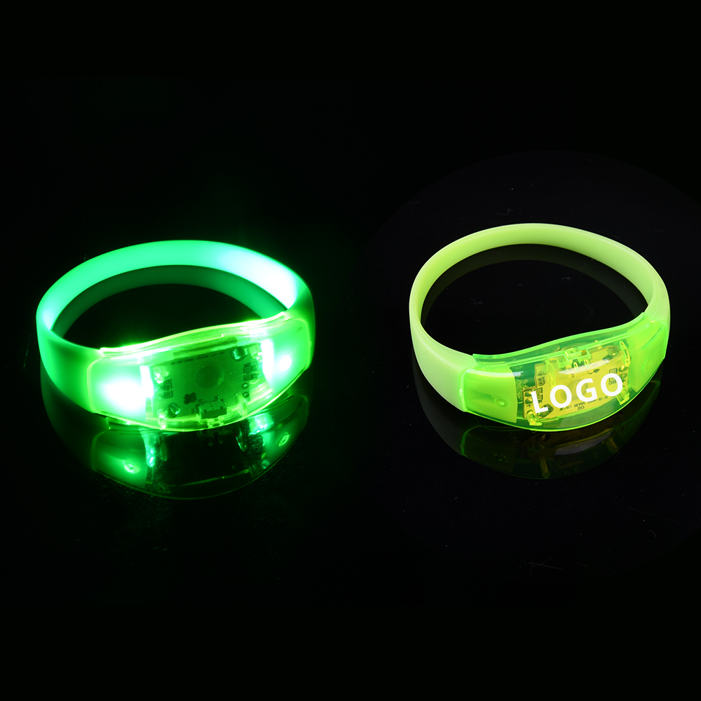 Evento & Party Supplies Led Brilho Festival Pulseira Led Piscando Pulseira Com Logotipo Personalizado