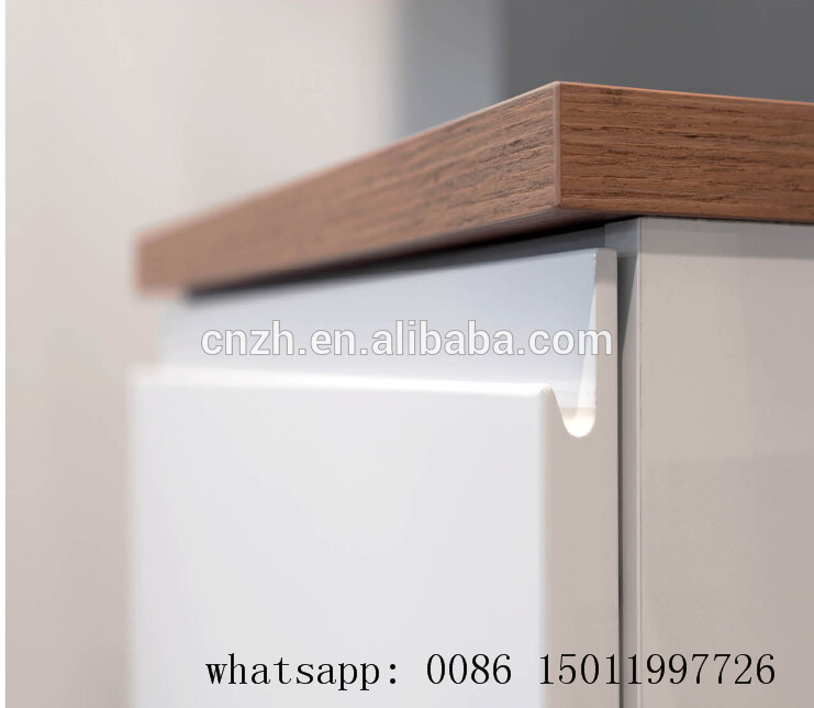 G Handless Finger Pull Glossy Mdf Slat Lacqure Rolling Cabinet ...