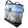 Polyester Beach Tote Bag , Zebra Beach Bag