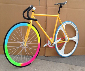aluminium fixie bike lightweight fixed gear bicycle hollow rim single speed one piece wheel