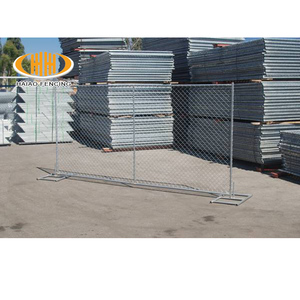 Top selling iron hot dipped galvanized temp chain link fence, construction site temporary fence for tree protection