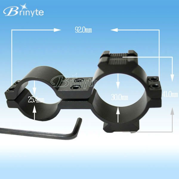 gun rifle hunting lights double ring 25.4mm and 30mm scope mount