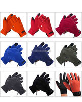 Winter durable warm touch fleece gloves