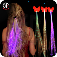 Fashion LED Hair Extensions, Flash hair braid, fiber optic LED hair accessories