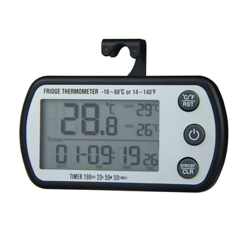 Waterproof digital refrigerator thermometer with timer function DTH-136