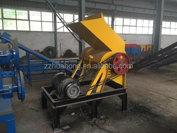 Rubber crushing mill machinery/ waste tire recycle machine/ rubber powder production line China supplier